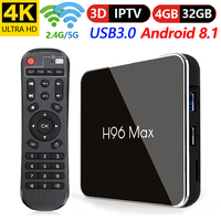2018 Android 8.1 TV Box H96 Max X2 4 gb 32 gb Amlogic S905X2 Quad Core H.265 USB 3.0 2.4g /5.8g LAN WIFI 4k HD Smart Set top Box