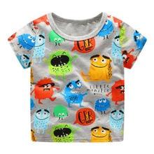 Littlemandy Boys T Shirt Bayi Tops Musim Panas Pakaian 2018 Dinosaurus Hewan Anak Print Pakaian Anak Lengan Pendek T-shirt Tshirt