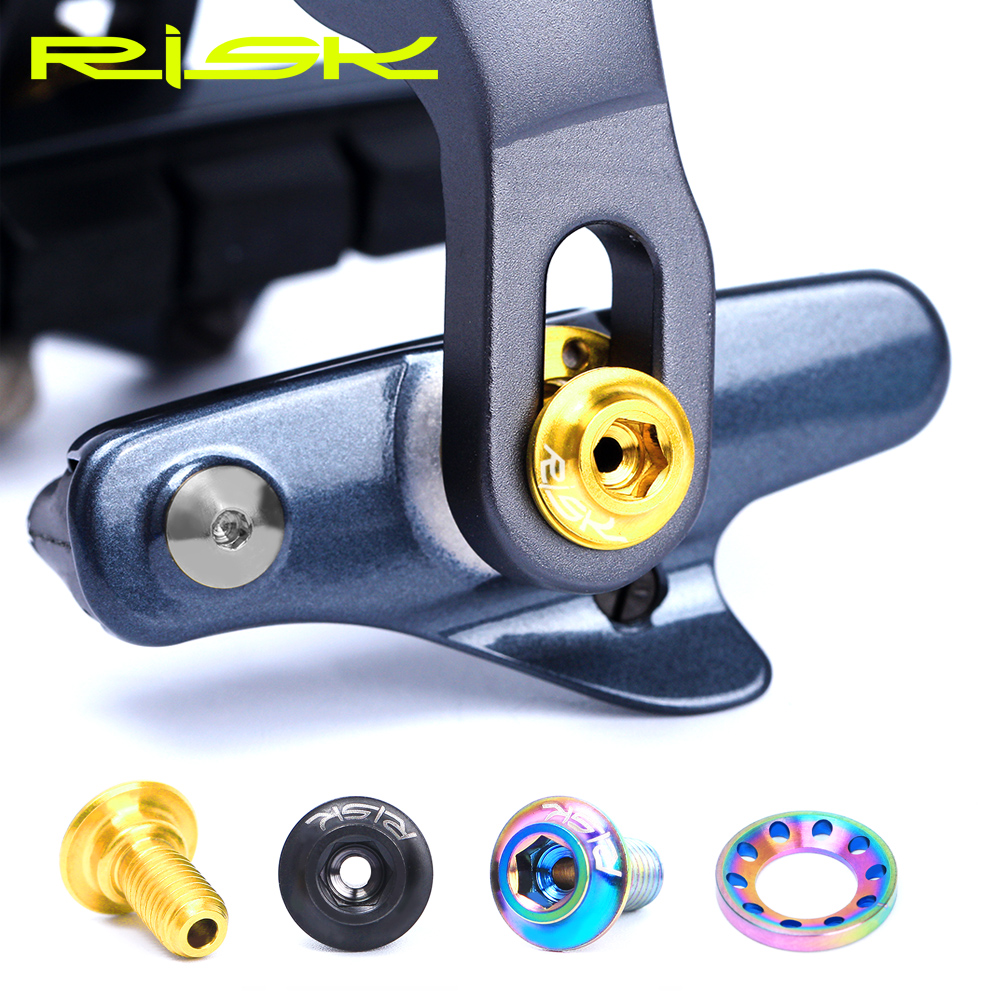 16pcs C Brake Shoes Fixing Unit Titanium Alloy Screws For UT/DA/105 Road Bike C Clamp Brake Pad Fixing Nuts Bolts Kits With Gask