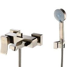 Смеситель для ванны WasserKRAFT Exter 1601 (Керамический картридж, встроенный аэратор, латунь, покрытие «светлая бронза»)