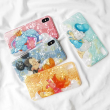 Minnie Mickey Donald Duck Winnie Pooh elephant Soft TPU Case for coque iPhone X 7 8 Plus 6s 6p XR XS MAX Conch Shell Cover стоимость