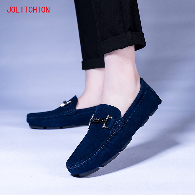 Hot sale Brand Men Loafers Men's Casual Shoes Suede Leather Mocassim Masculino Breathable Slip on Boat Shoes Chaussures Hommes