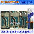 Alta calidad nueva pantalla lcd + asamblea de pantalla táctil de cristal digitalizador para huawei p9 lite/g9 teléfono móvil negro oro blanco con marco