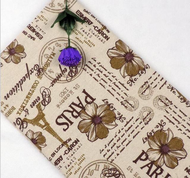 100*150 cm imprimé stylos coton lin tissu par mètre couture d ...