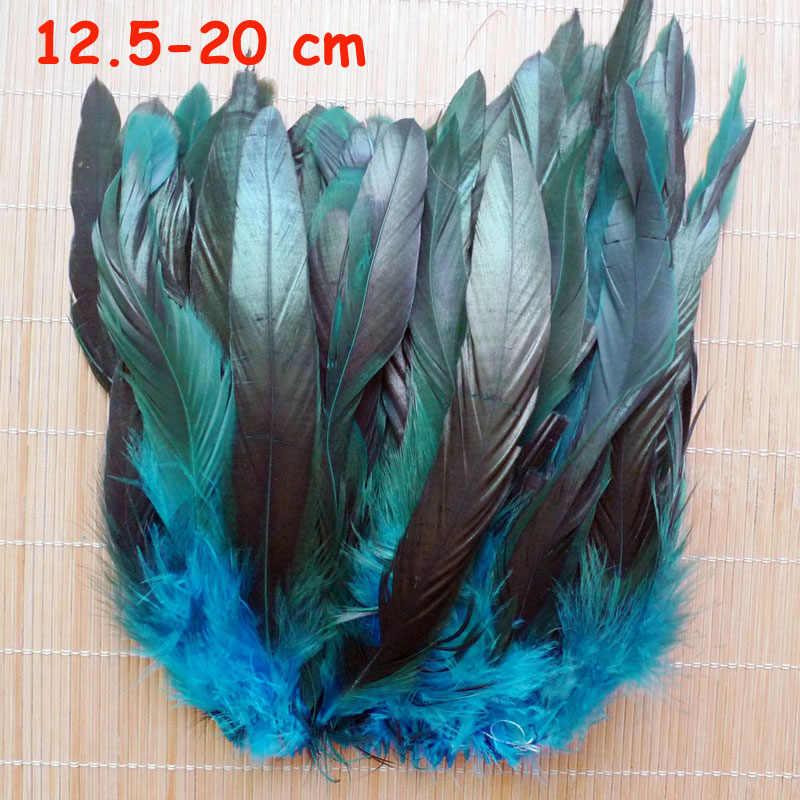 20 шт. 11 видов небесно-голубой фазан хвост Куриные перья гусиный петух плюшки для вечерние DIY ремесло украшения страусиное перо