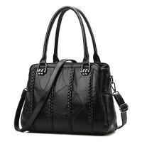 Alta qualidade genuína pele de carneiro de couro das mulheres saco do mensageiro saco de compras saco de ombro do sexo feminino Meninas crossbody sacos tendência saco de Novo