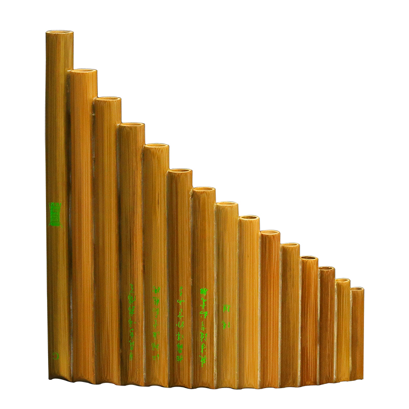 Woodwind 15 Pipes Pan Flute G F Key Natural Bamboo Wind Panflute Flauta Handmade font b