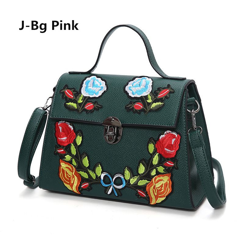 ФОТО 2017 National Vintage Floral Embroidered Bag Women's Handbags From Leather Famous Brand Women's Shoulder Messenger Bags Women's