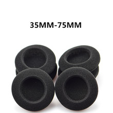 Replacement Foam Ear Pads Cushions 35MM 40MM 45MM 50MM 55MM 60MM 65MM 70MM 75MM for Headphones High Quality(China)