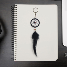 Black feather dream cather  handmade net key chain creative small gift pendant hanging decoration