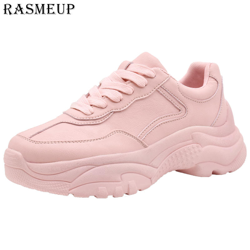 RASMEUP Women s Chunky Sneakers 2019 New Spring Women Platform Sneaker Fashion Comfortable Casual Woman Dad