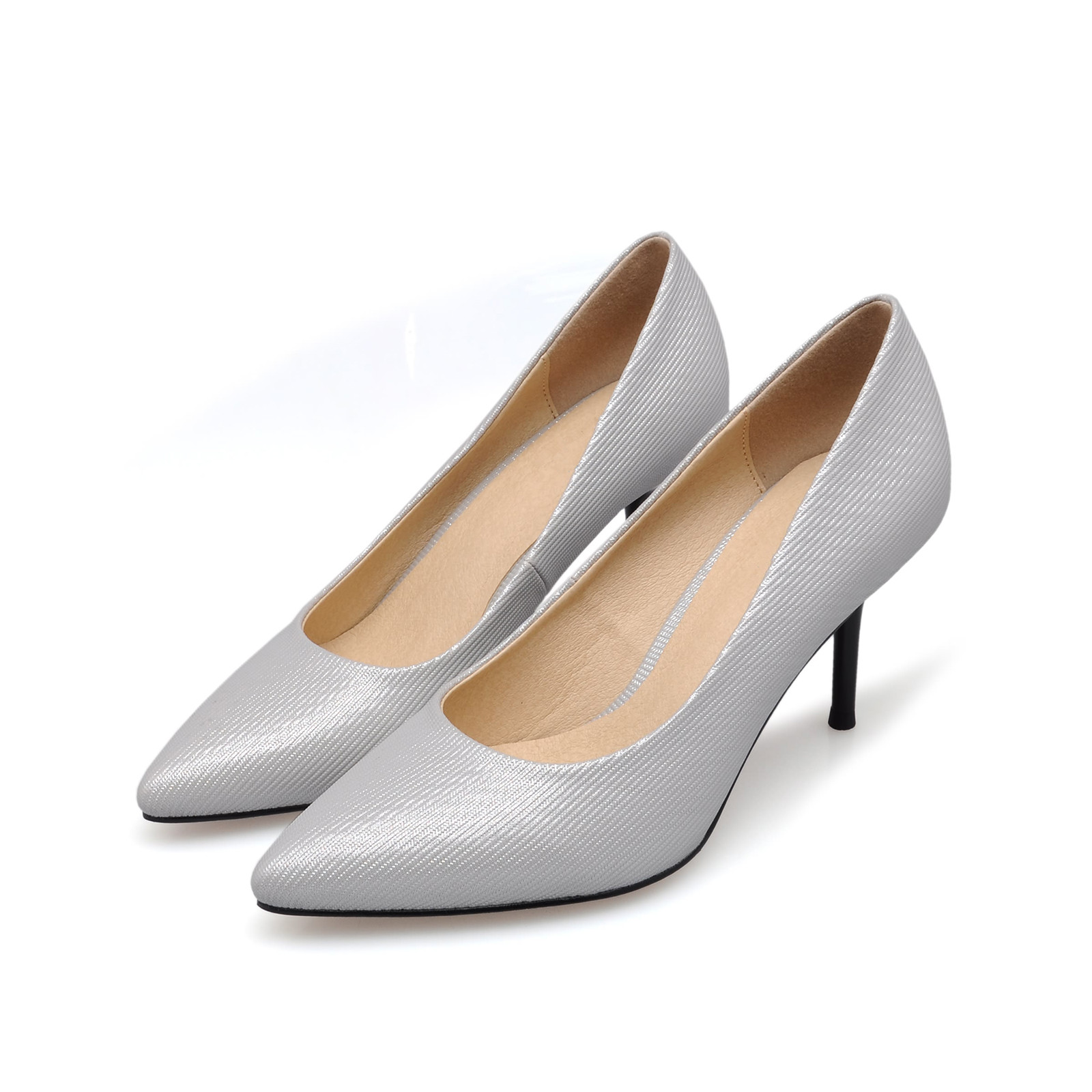 Womens New Spring Summer Thin High Heels Fashion Pointed Toe Sexy Pumps Genuine Leather Casual Office Women Shoes SMYBK-068 new 2017 spring summer women shoes pointed toe high quality brand fashion womens flats ladies plus size 41 sweet flock t179
