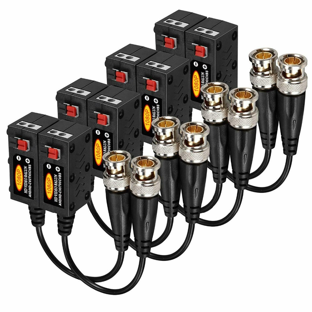 1080P 4MP 5MP 8MP AHD/HD-CVI/TVI/CVBS Passive HD Video Balun Transmitter 4 Pairs (UTP Up To 350M-600M)