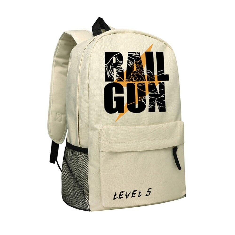 Zshop Book Bag Rail Gun Children School Bags Boys Misaka Mikoto Kids Backpacks Girls Brand Level 5 Cute Great Gifts