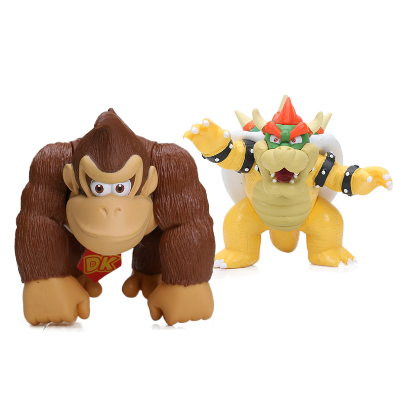 "Bowser Koopa Plastic PVC Figure Doll Toy Collectible 9/"" /& 4/"" Super Mario Bros"