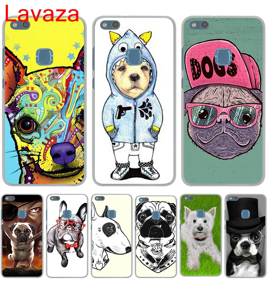 Lavaza Tattooed Bullterrier Cute dog Biaoqing Hard Transparent Case Cover for Huawei P10 Lite