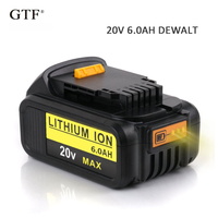 20V 6.0A 6000mah Rechargeable Li ion Battery Portable Replacement Battery Backup Battery For Dewalt Electric Power Tool