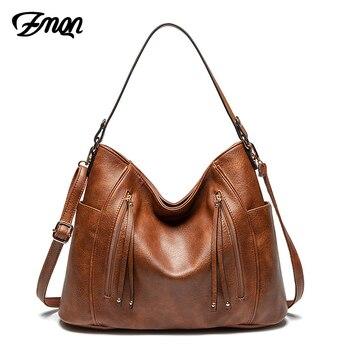 ZMQN Luxury Women Bag Handbags Women Famous Brand Messenger Bags Leather Designer Handbag 2019 Vintage Big Hobos Female Bag C665 grande bolsas femininas de couro
