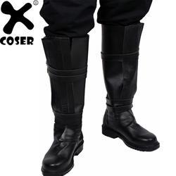 XCOSER Звездные войны Kylo Ren сапоги для верховой езды 2018 Хэллоуин вечернее крутое черный из искусственной кожи сапоги до колена фильм косплэй