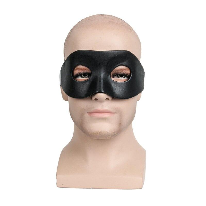 Зорро полумаска с галстуком черные Необычные товары маскарадные Вечерние Маски унисекс Венецианская маска лиса кошка танцующий глаз золио...