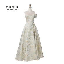 2019 ใหม่ล่าสุดหนึ่งไหล่เซ็กซี่ Dresses 2019 3D ดอกไม้แฟชั่นชุดราตรีอย่างเป็นทางการ VINTAGE Robe De Soiree Real Photo OL103404