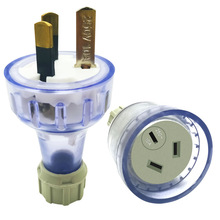 AU NZ Plug Assembled Rewireable Female Male Plug Socket 3 Prong Electrical AC Extension Cord Grounded Rewire Socket SAA