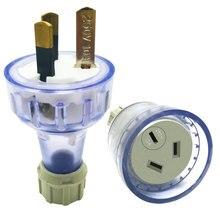 Au Nz Plug Gemonteerd Bedraden Vrouwelijke Mannelijke Plug Socket 3 Prong Elektrische Ac Verlengsnoer Geaard Opnieuw Bedraden Socket Saa