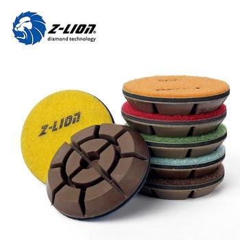 Z-LION 7 Pcs/Lot 3 Inch Diamond Floor Polishing Pad Concrete Floor Sanding Disc Stone Concrete Grinding Thickness 10MM