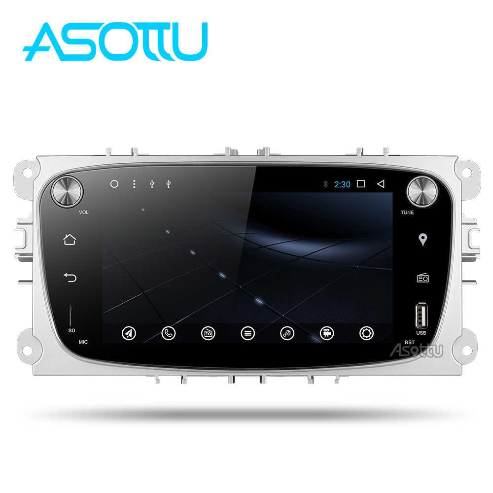Android 8,1 2din coche DVD Octa core para Ford Mondeo Ford C-max focus galaxy S-max dvd del coche reproductor de video de radio gps en dvd 1024*600