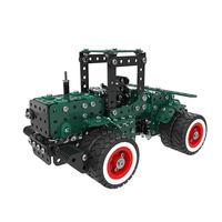 Stainless Steel Tractor Block Kit Model Building Blocks Bricks Metal Educational Toys Learning Set 3D DIY Toys for Children