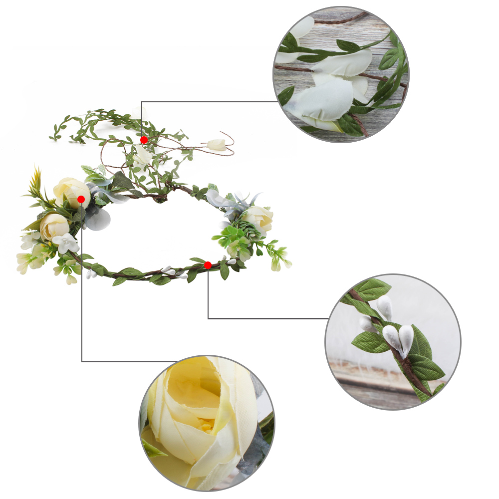 Elegant Elegant Artificial Flower Hair Jewelry Wedding Hair Accessories Hair Comb Bridal Tiara Hair Ornaments Wholesale in Hair Accessories from Mother Kids