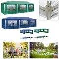 3X9 m Outdoor Party-Event Garten Pavillon Zelt Festzelt Markise Wasserdicht 8 seite wände Grün Blau Outdoor-aktivitäten baldachin markise
