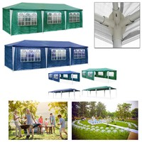 3X9m Outdoor Party Event Garden Gazebo Tent Marquee Awning Waterproof 8 side walls Green Blue Outdoor Activities Canopy awning