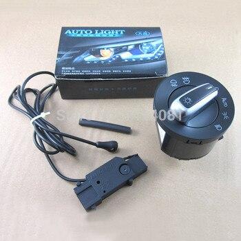 Capteur de lumière de phare automatique + interrupteur de phare chromé pour VW Golf 5 6 MK5 MK6 Tiguan Passat B6 B7 CC Touran Jetta MK5 MKV