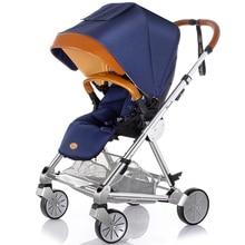 Ultimate Luxury Baby Stroller Aluminum Alloy High Landscape Shockproof Baby Car Portable Folding Poussette Prams for Newborn C01