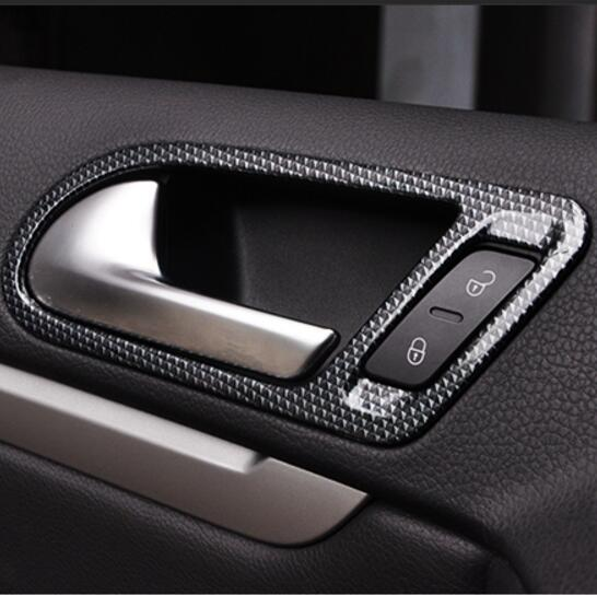 Car-styling Stainless steel Door interior handle decoration Frame cover For Volkswagen vw Tiguan 2010-2016 auto accessories car styling for vw volkswagen touran 2016 2017 stainless steel auto full window trims cover external garish frame 12pcs set