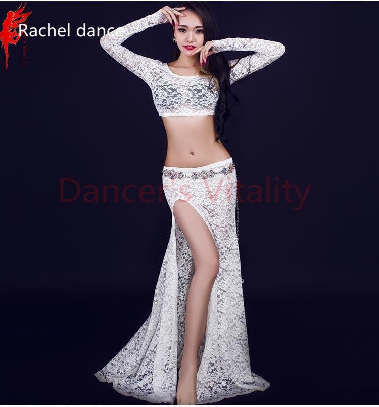 Belly Dance Clothes Long Sleeves Top And Skirt 2pcs Girls Latin Dance Clothing Salsa Ballroo Samba Dance Exercise Sets Costume
