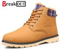 2015 Fashion Men Cotton Casual Outdoor Shoes Men S Boots Autumn Winter Fur Super Warm Ankle