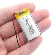 Полимерный аккумулятор 700 mah 3,7 V 802040 умный дом перезаряжаемый литий-ионный аккумулятор для dvr gps MP3 MP4 Bluetooth динамик ручка для чтения DIY
