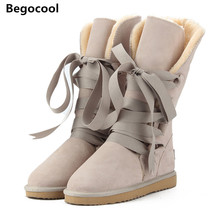 Begocool High Quality UG Snow Boots women's winter Boot Women Fashion Genuine Leather Australia Classic Women's High Boot Winter(China)