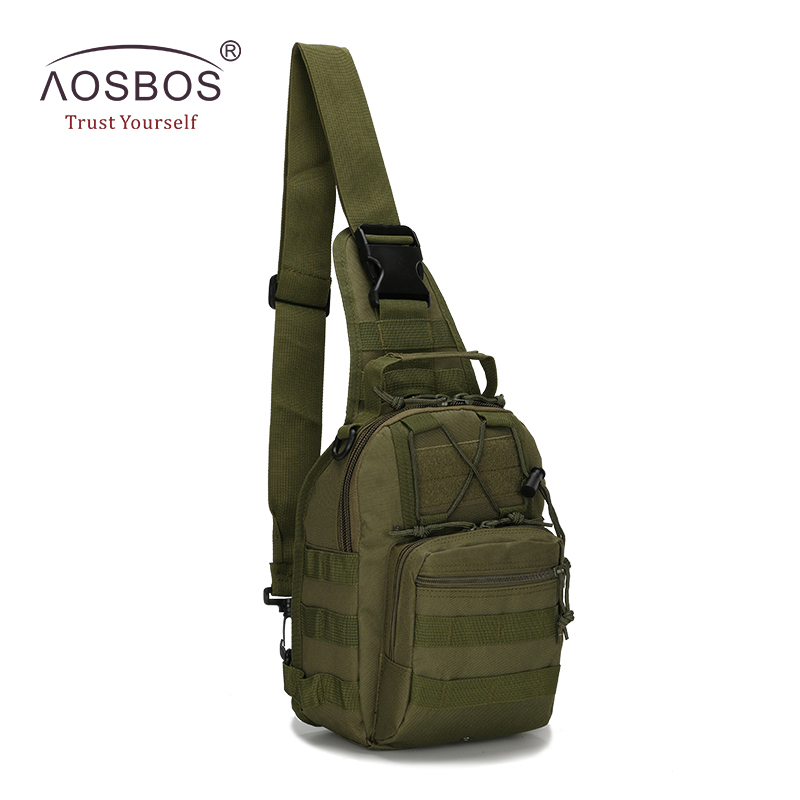 Aosbos Waterproof Sport Bags Military Tactical Bag Camouflage Small Chest Bag With Molle Outdoor Travel Hiking Camping Bag