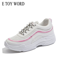 E TOY WORD Women Sneakers 2018 New Spring Platform Casual Shoes Students Walking Breathable Fashion Women