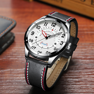 Image 5 - CURREN Date Mens Watches Luxury Sport Watch Quartz Calendar Watch Casual Business Leather Male Clock Military Wristwatches