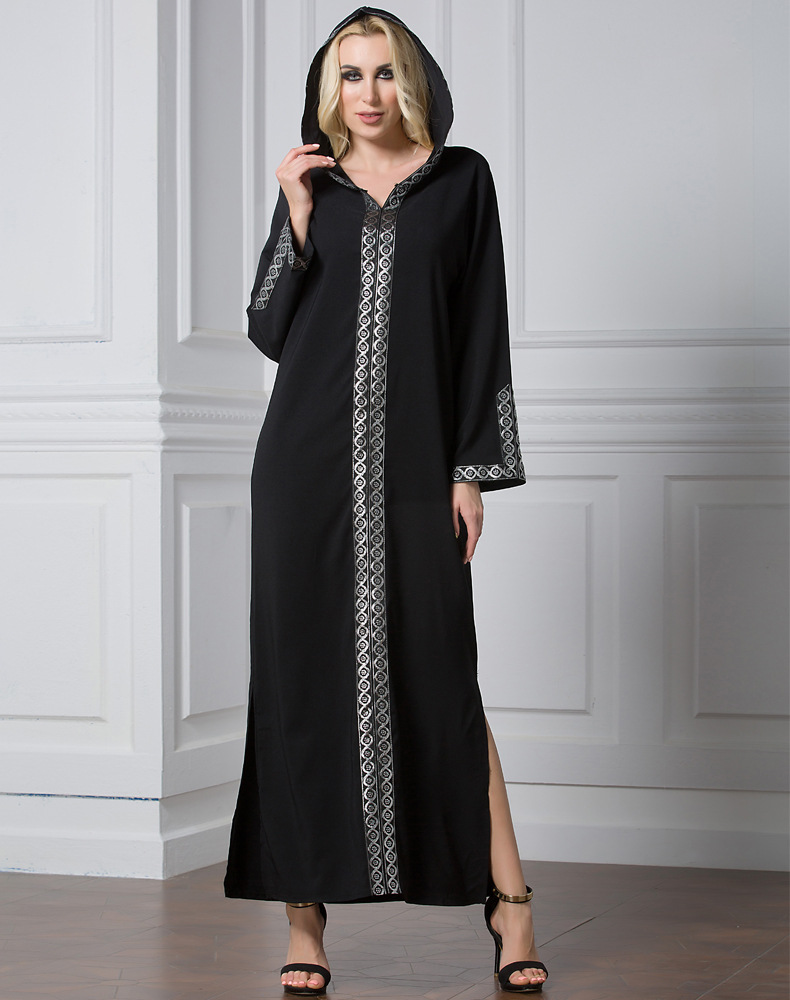 Muslim Clothing Long Robe Djellaba Arab Muslim Women -9912