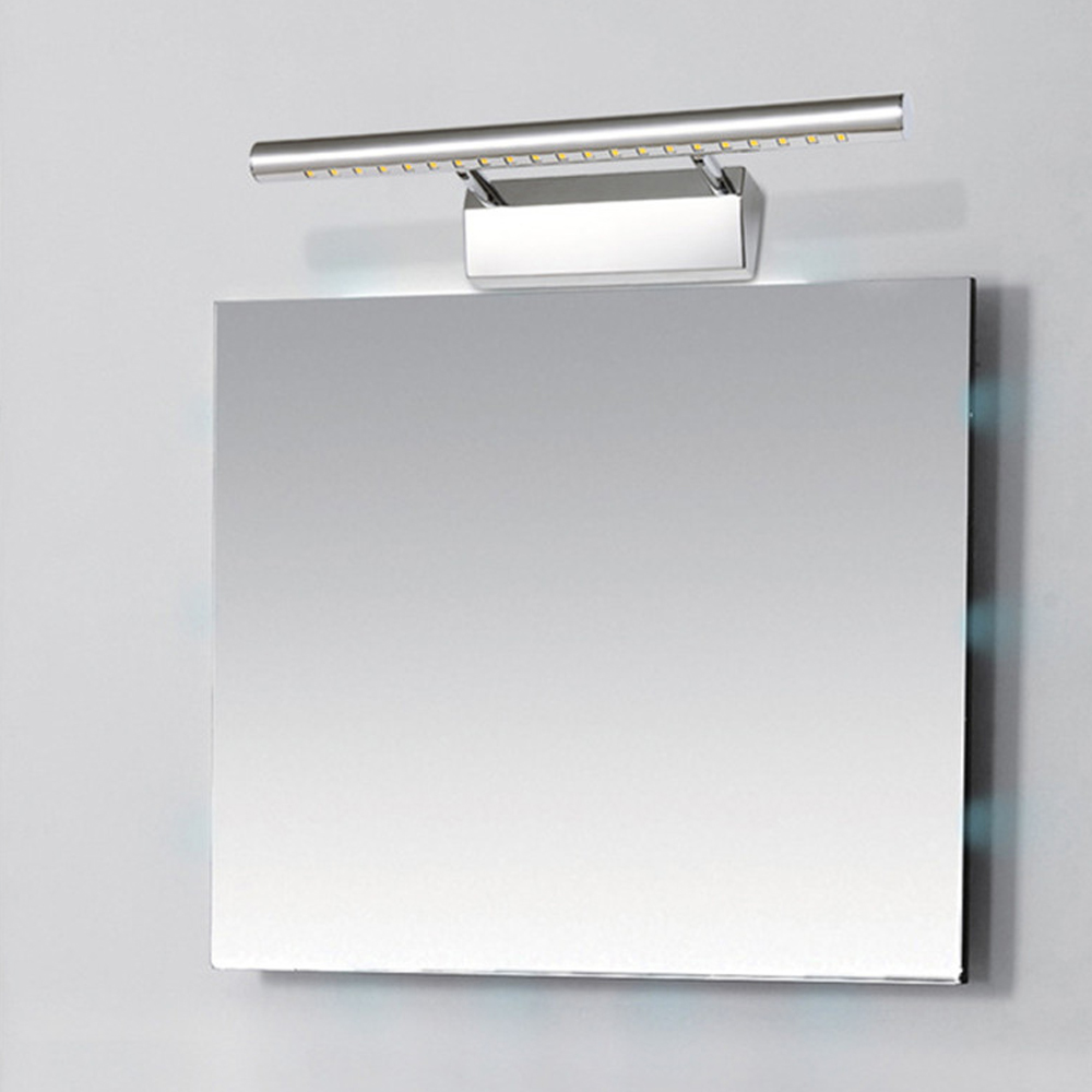 Free shipping modern 3W 5W 7W wall mounted stainless steel bathroom bedroom cabinet mirror light wall lamps cold / warm white