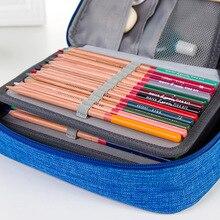 4 Layers 72 Holes Large Capacity Pencil Case Oxford Zipper Sketch Pencil Bag Handbag Pencil Box School Supplies Art Stationery