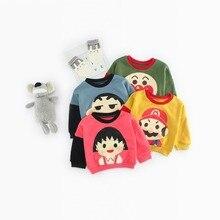 SFW-203 Sengfei  New Autumn Children Baby Boys&Girls Unisex Clothes Cartoon Printed O-neck Pullover Full Sleeve Sweatshirt