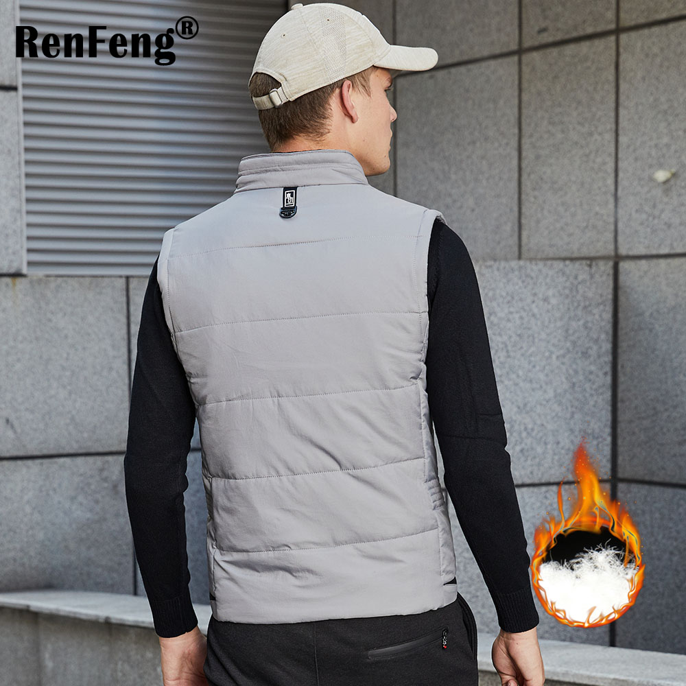 Autumn Winter Ultra Light Down Vest Men Windproof Sleeveless Lightweight Long Waistcoat Warm Fashion Homme Vest Plus Size XXXXL (3)