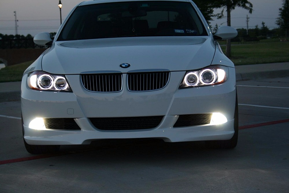 2x 360-Degree 80W CREE Chips Led H8 Angel Eyes Halo Ring DRL Fog Driving Light White High Power Bulbs for BMW E90 E92 E93 X5