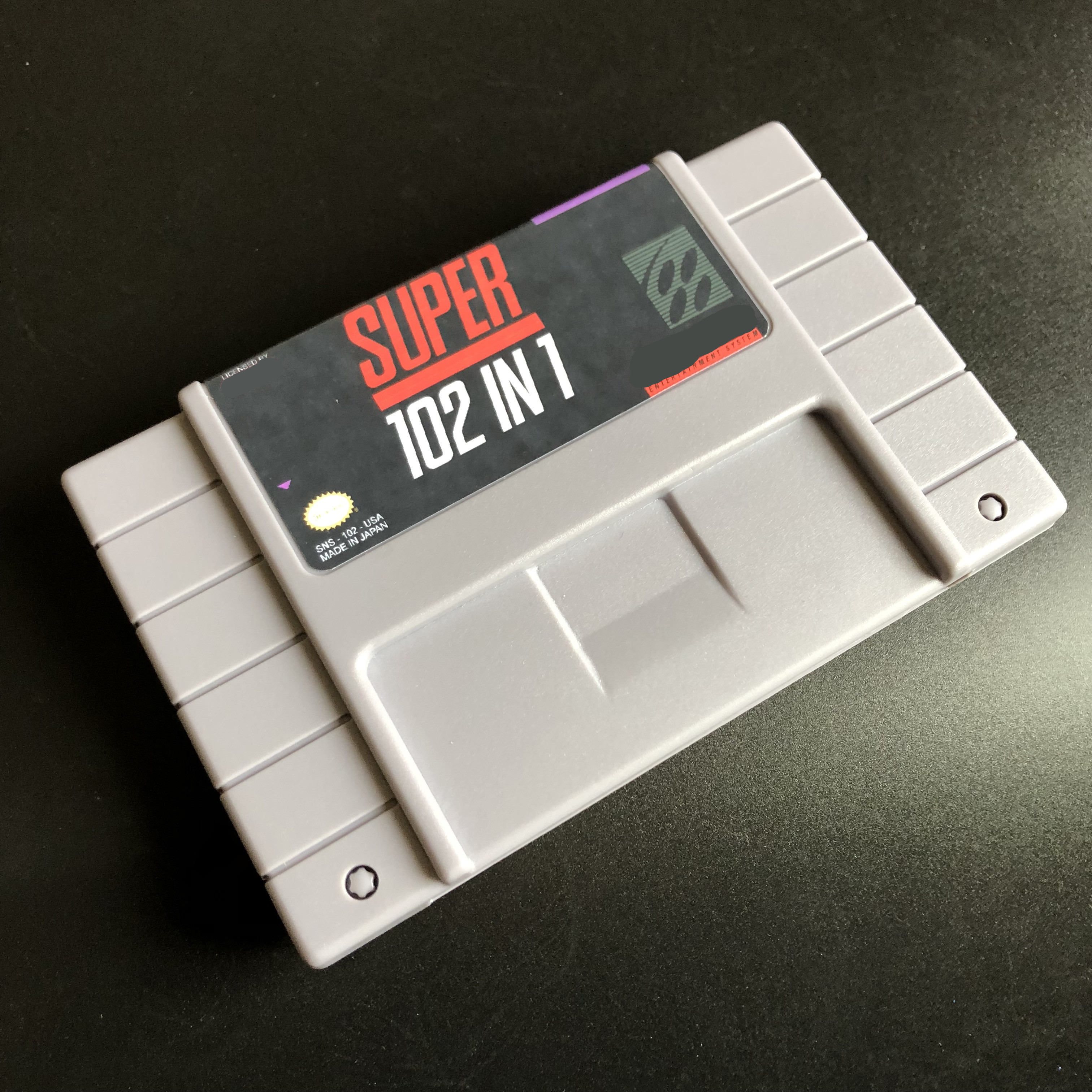 Super 102 in 1/top gear/TMNT/Mega Man/Castlevania X/Zombies/Gradius 3/Contra 3/Bonkers For 46pins NTSC version Console !-in Memory Cards from Consumer Electronics